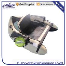 Flutuante inflável tubo de pesca barco voador pontão pequeno barriga barco