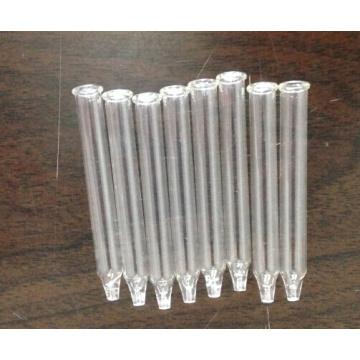 Pipeta de vidrio de forma cónica clara Tubular para el embalaje del aceite esencial