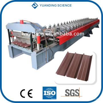 Fabricante profesional de YTSING-YD-7121 Acero Galvanizado / Acero de Color / Aleación de Aluminio Gusset Plate Roll Formando Máquina