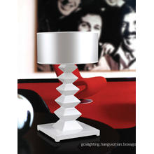 High Class White Poly Resin Fabric Table Lamp for Villa (MT80110-1-450)