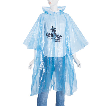 Disposable Clear PE Adult Rain Ponchos