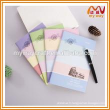 Carnet d'étudiant ultra-mince avec couverture colorée, jolie fourniture scolaire