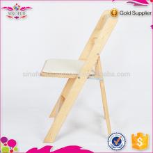 Sorties d'usine, chaise pliante en bois en provenance de Sinofur