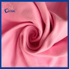 Cor rosa tecido de pano de camurça de microfibra (qha44098)