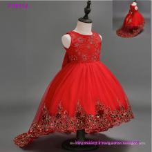 6de92dc5b984 Vestiti da ragazza di fiore dei bambini del merletto della principessa  bianca per il vestito pageant