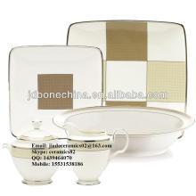 Espresso novo projetado melhor venda real osso china cerâmica casa marca melamina louça