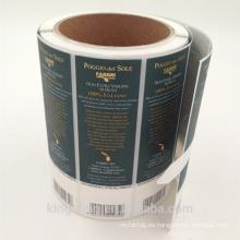 Etiqueta engomada del envase de comida de la fabricación de Shangai, impresión de encargo y final disponible