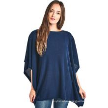 PK18A54HX Women 100% Cashmere Wide Neck Wrap Poncho Sweater