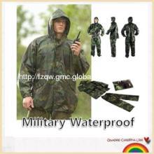 New military waterproof army rain suit hooded jacket & trousers