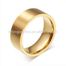 Anel de ouro saudita do ouro para mulheres, anéis de casamento de ouro simples anéis de jóias