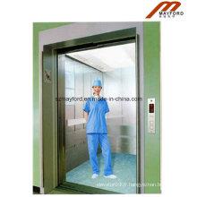 Ascenseur sans lit de machine de sécurité avec l'acier inoxydable