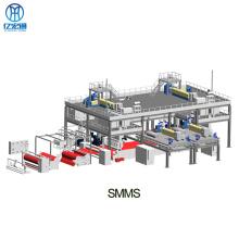 Машина для производства нетканых материалов SMMS для гигиенических салфеток