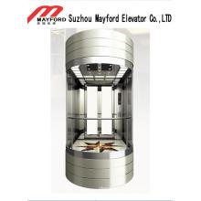 Ascenseur panoramique en tôle d'acier peinte pour faire du tourisme