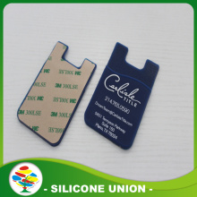 Dark Blue 3m sticker smart Silicon Phone Card Holder