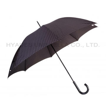 Minimalism Check Impreso Mens Straight Umbrella