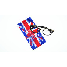 customizable microfiber drawstring cell phone pouch
