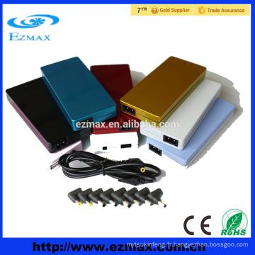 Chargeur de batterie pour ordinateur portable adaptateur universel coloré Slim 90W