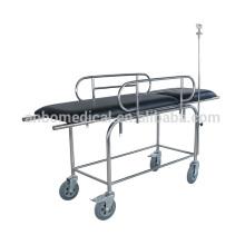 Двухстоечная тележка с выдвижным столом из нержавеющей стали