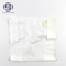 Sacs en plastique de porteur de gilet de transporteur de veste blanche de HDPE