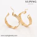 94380 estilo árabe tamanho livre cobre liga graciosa ouro aro brinco projetos para namorada presente