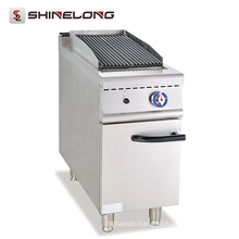 Professional Custom Stainless Steel Table Top Gas Grill With Cabinet Gas Lava Rock Grill (FCZH-XH)
