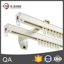 Rail rideau à double projet en aluminium avec connecteur pour fenêtre longue