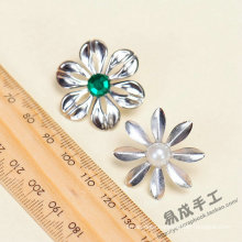 Hot sale 3D embossed flower shape metal stickers for wall decor 2016 fashion christmas alibaba china supplier