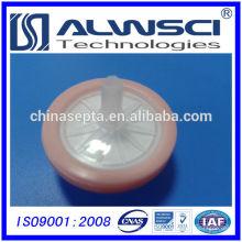Filtro de seringa de 25mm Tamanho de poro hidrófilo PTFE 0.22um