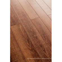 Commercial 8.3mm E1 HDF Embossed Walnut U-Grooved Laminate Flooring
