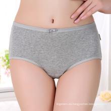 Pantalones de algodón respirable de las mujeres de las muchachas panty panty de la cintura alta de Deisgn de las mujeres sólidas panty