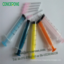 Colored Disposable Syringe Withblunt Needle