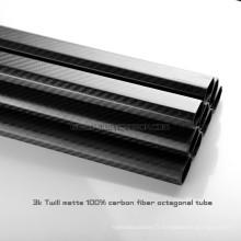 Tube de fibre de carbone d'octogone de 20x30x500mm pour Multicopter, tubes de carbone pliés de sport en plein air