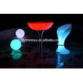 PE plástico LED del control remoto bar mesas/color cambiar LED mesas de Cóctel/iluminado LED luz mesa