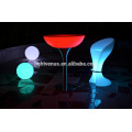 PE en plastique télécommande LED bar tables/changeant de couleur LED cocktail tables et éclairage LED lumière vers le haut de tableau