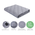 Cotton Material 25lbs Weighted Blanket With Glass Beads