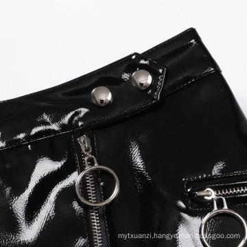 Women PU Leather Short Skirt Sexy Mini Skirt