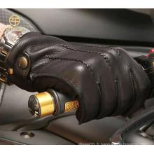 Gants de cuir de conduite en peau de cerf-volant en cachemire de qualité supérieure