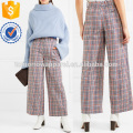 Cotton-tweed Wide-leg Pants Manufacture Wholesale Fashion Women Apparel (TA3016P)