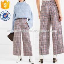 Хлопок-твидовые широкие брюки Производство Оптовая продажа женской одежды (TA3016P)