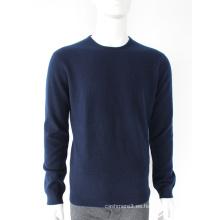 Ventas de fábrica de calidad clásicos suéteres de cachemira azul marino hombre suéter de cachemira