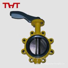 high temperature gas regulation cast iron pneumatic lug butterfly valve