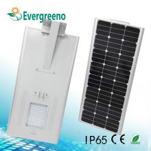 Material de cuerpo de lámpara de aleación de aluminio y Ce, SAA, RoHS, CCC, C-Tick Certificación All in One Solar Street Light