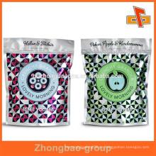 Guangzhou personalizada de aluminio hoja de cierre de cremallera bolsa / hoja de ziplock bolsa / bolsa resellable bolsa de papel / aluminio de aluminio para alimentos