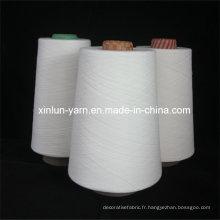 Fils filés en polyester ciré pour le tissage (Ne 24/1)