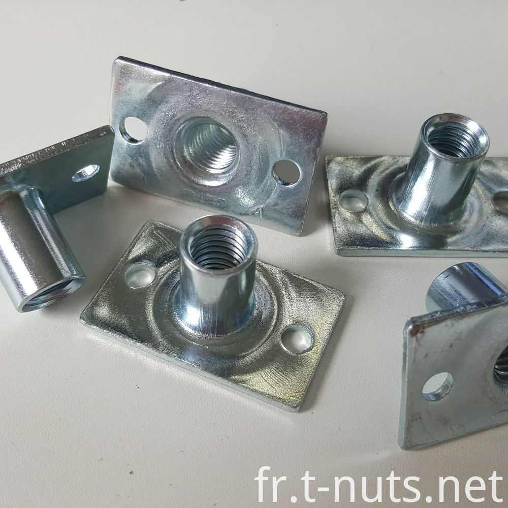 T Nuts with rectangular base