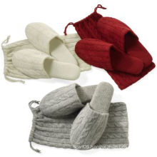 Cashmere Slipper & Cashmere Cables Bag