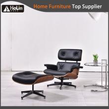 sillón y otomana reclinable eames