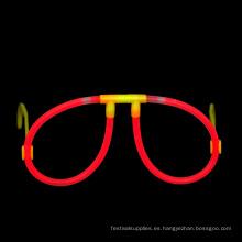 Gafas rojas del palillo del resplandor