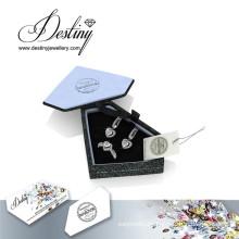 Destino joyería cristal de Swarovski conjunto anillo y pendientes
