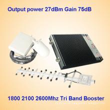 1800MHz 2100MHz 2600MHz tri banda amplificador de señal celular